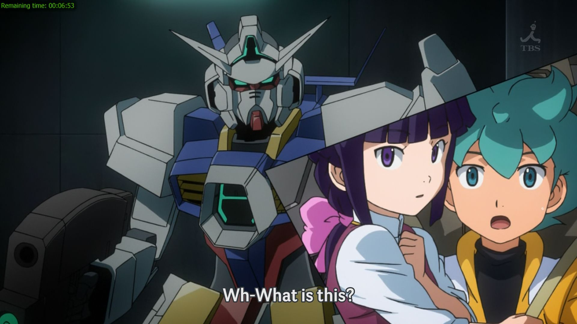 This Westernized method of presentation has never been seen in a Gundam title before. Unfortunately, its usage is restricted to the first half of the series only.