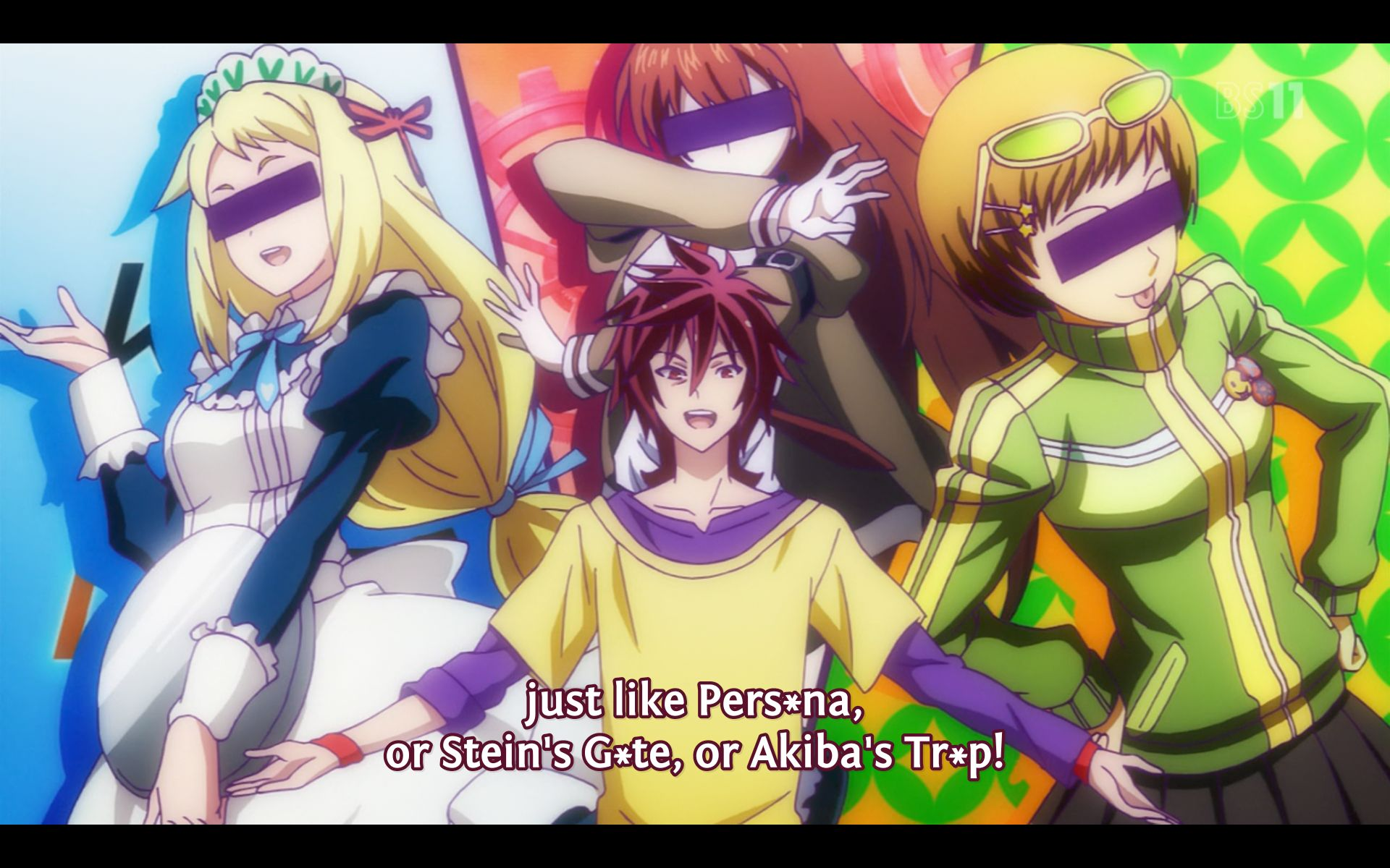 Some of the parodies in this anime.